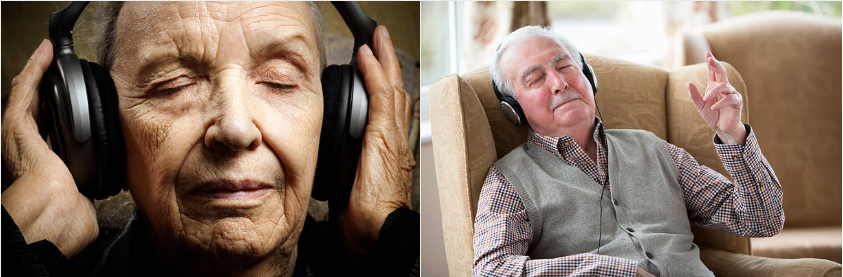 images of people listening to music 2